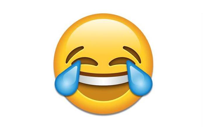Smiley Lacht Sich Schlapp